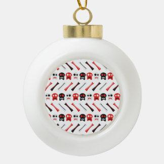 Comic-Schädel mit buntem Muster der Knochen Keramik Kugel-Ornament