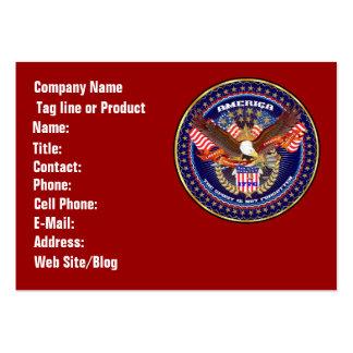 Commentaires patriotiques ou de vétéran de vue carte de visite grand format