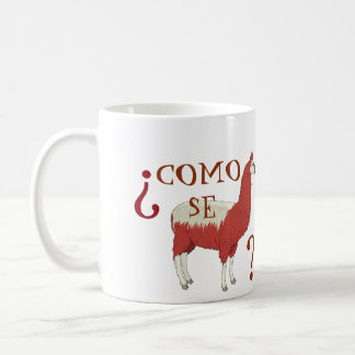 Como Se-Lama-Tasse mit Lama-Bild Kaffeetasse