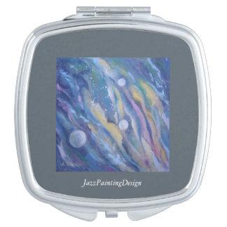 Compact Mirror with JazzPaintingDesign Taschenspiegel
