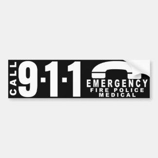 Composez l'autocollant 9 de 911 polices adhésif pour voiture