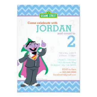 Compte von Count Birthday Carton D'invitation 12,7 Cm X 17,78 Cm