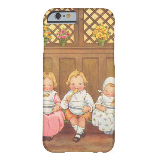 Comptine vintage des enfants chauds de gruau de coque iPhone 6 barely there