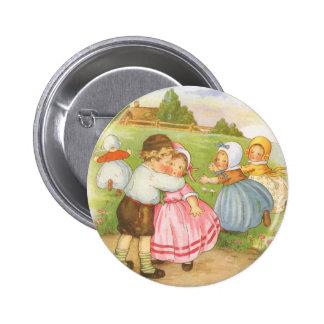 Comptine vintage d'oie de mère de Georgie Porgie Badge Rond 5 Cm