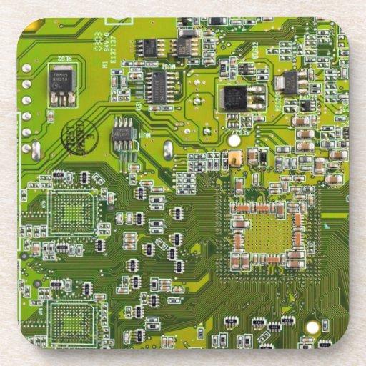 Computer-Aussenseiter-Leiterplatte - Gold Untersetzer