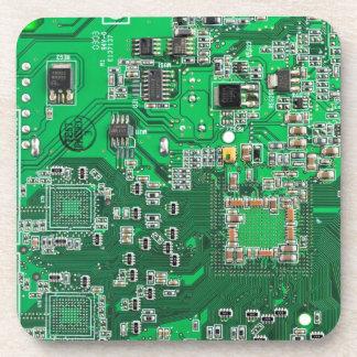 Computer-Aussenseiter-Leiterplatte - Grün Untersetzer