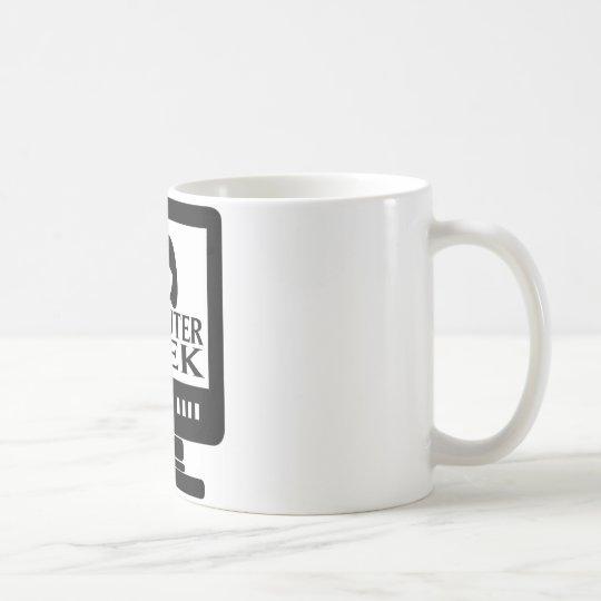 Computer-Aussenseiter-Mädchen-Frau Kaffeetasse
