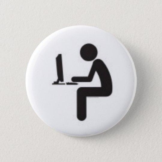 Computer-Benutzer-Ikone Runder Button 5,7 Cm