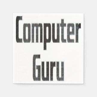 Computer-Guru-Grau Serviette