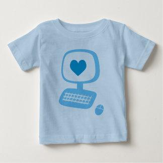 Computer-Herz-Säuglings-T - Shirt