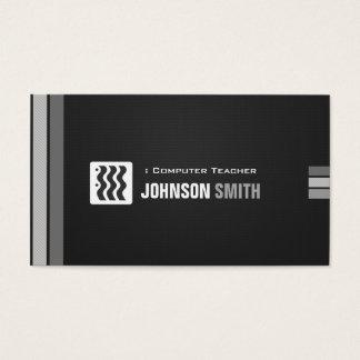Computer-Lehrer - städtisches Schwarz-weißes Visitenkarte