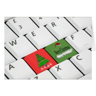 Computer-Tastatur-Weihnachtskarte Grußkarte