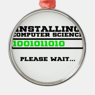 Computer-wissenschaftlicher Abschluss Silbernes Ornament