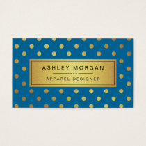 Concepteur d'habillement - points d'or de bleu cartes de visite
