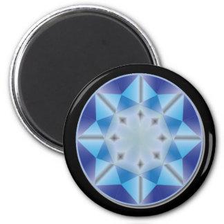 Conception bleue d'aimant de gemme magnet rond 8 cm