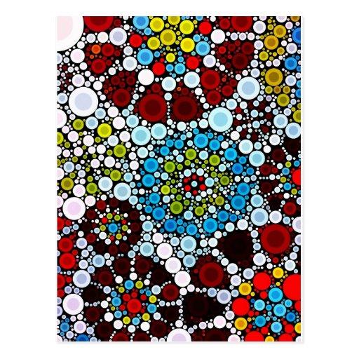 Conception colorée de bulles de cercles de mosaïqu carte postale