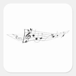 Conception d'A tordant l'illustration musicale Sticker Carré