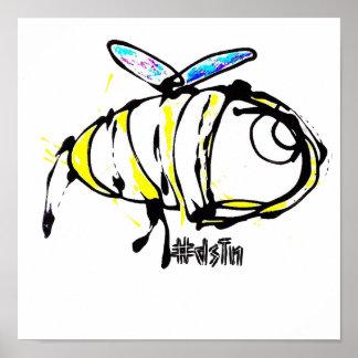 Conception d'abeille d'impression de toile
