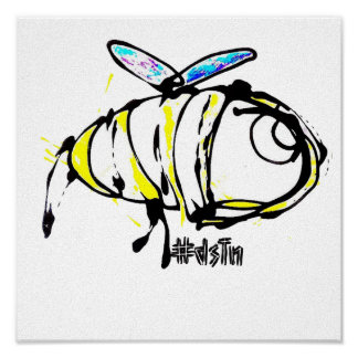 Conception d'abeille d'impression de toile poster