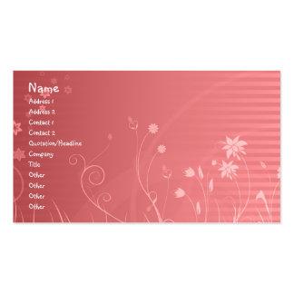 Conception florale carte de visite standard