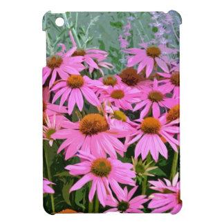 Conception florale d'abrégé sur rose echinacée étuis iPad mini