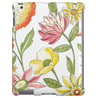 Conception florale de jardin avec l'arrière - plan coque iPad