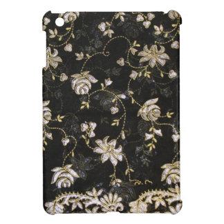 Conception florale de textile de tissu étui iPad mini