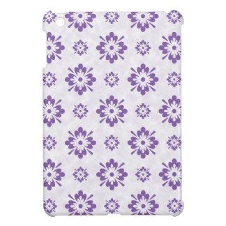 Conception florale pourpre d'art coque pour iPad mini