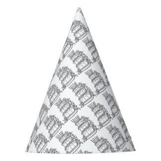Conception gâteau de couche de schéma chapeaux de fêtes
