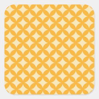 Conception jaune et orange de Geocircle Sticker Carré