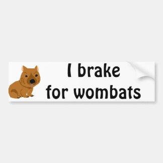 Conception mignonne de wombat de bébé autocollant de voiture