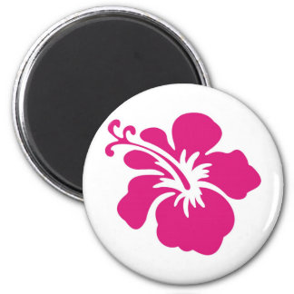 Conception rose de ketmie magnet rond 8 cm