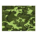 Conception verte de camouflage d'armée carte postale