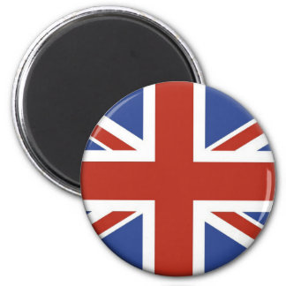 Conceptions BRITANNIQUES de cercle de drapeau d'Un Magnet Rond 8 Cm