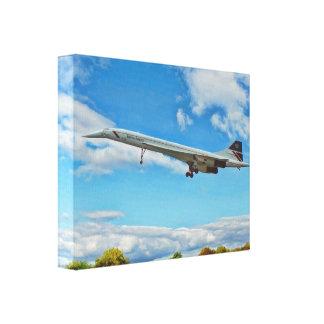 Concorde auf Schlüssen Leinwanddruck