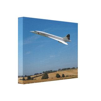 Concorde zur Ernte-Zeit Leinwanddruck