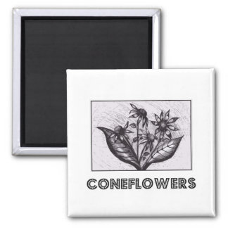 Coneflowers Kühlschrankmagnet