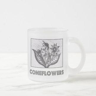 Coneflowers Matte Glastasse