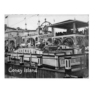 Coney-Insel-Kuchen-Weg-Postkarten-Vintages Bild Postkarte