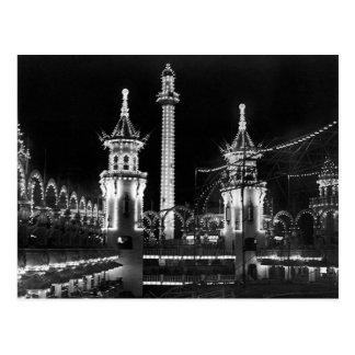 Coney Island nachts Postkarte