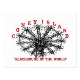 Coney Island New York - Spielplatz der Welt Postkarte