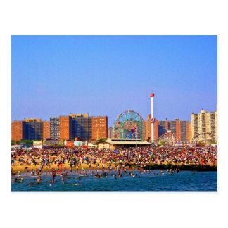 Coney Island-Strand - NYC Postkarte