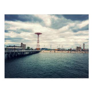 Coney Island-Strand-Panorama Postkarte