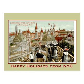 Coney Island-Weihnachten Postkarte