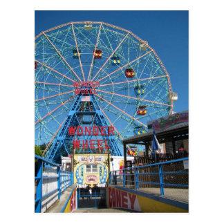 Coney Island-Wunder-Rad Postkarte