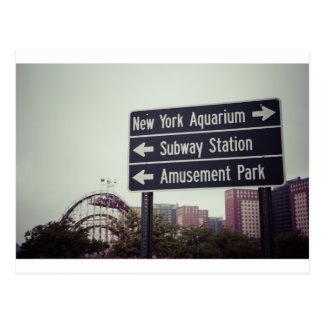 Coney Island-Zeichen Postkarte