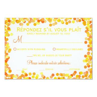 Confetti-Hochzeits-Wartekarten 8,9 X 12,7 Cm Einladungskarte