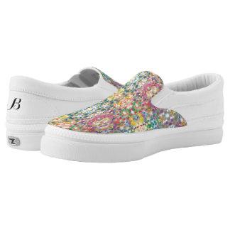 Confetti niedrige SpitzenZipz Schuhe
