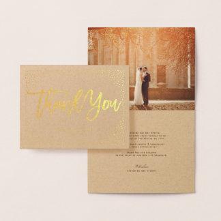 Confetti-Punkt-Rahmen gebürstete schicke Hochzeit Folienkarte