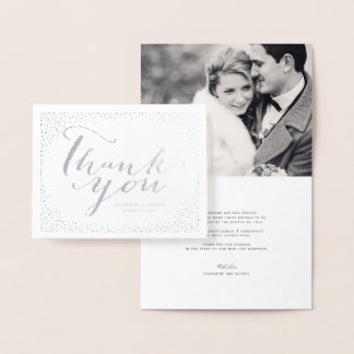 Confetti-Punkt-Rahmen-moderne schicke Hochzeit Folienkarte